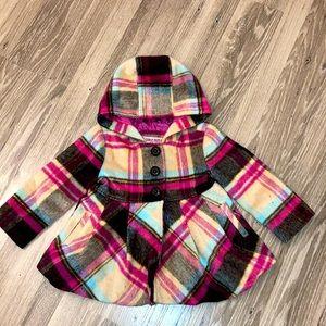 Urban Republic A-line plaid toddler girls coat